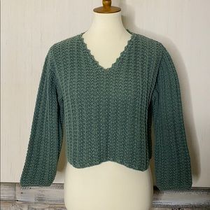 VINTAGE PURE HANDKNIT S/M Chunky Cropped Sweater